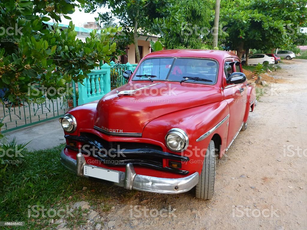Vintage car, Viñales, Cuba royalty-free stock photo