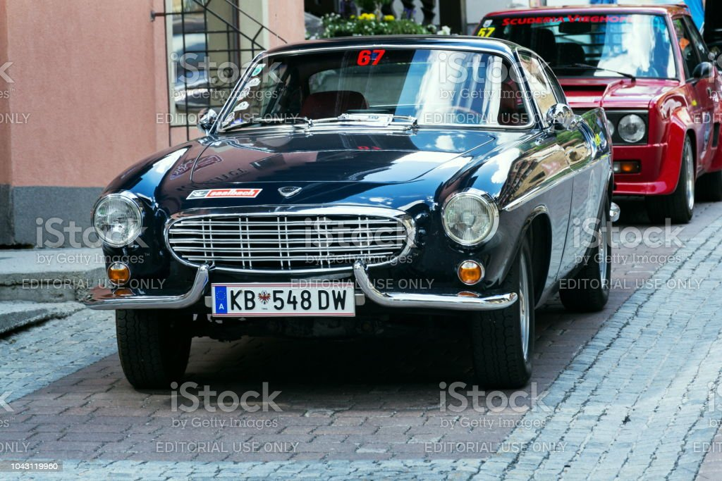 Vintage car Volvo P 1800 S oldsmobile veteran produced between 1961 and 1973 stock photo