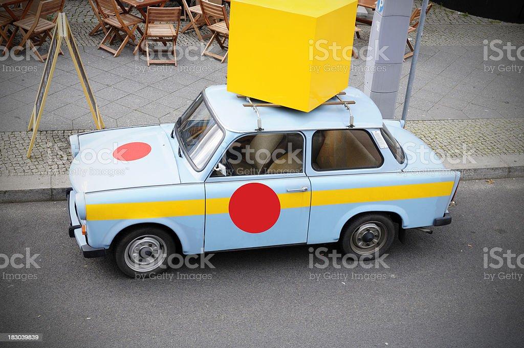 Vintage Car.Berlin.Urban Scene royalty-free stock photo