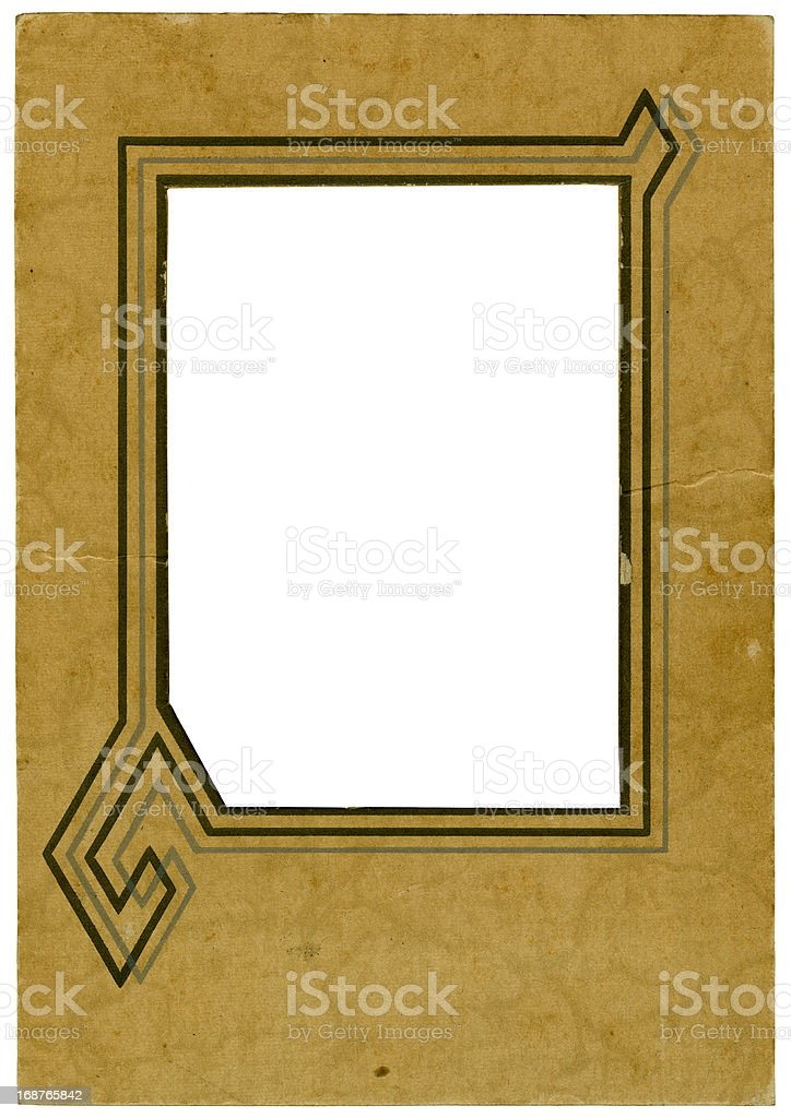 Vintage Cardboard Photo Frame From the Nineteen Thirties royalty-free stock photo