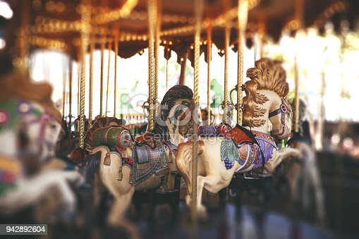 vintage carousel in the park