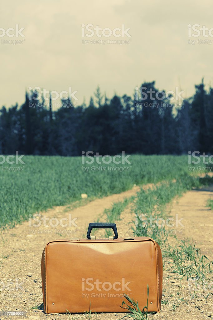 vintage case in the field royalty-free stock photo