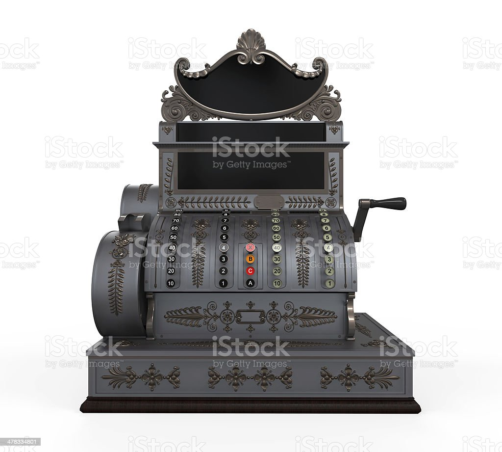 Vintage caixa registradora - foto de acervo