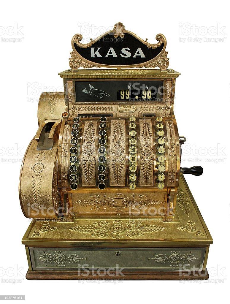 Vintage dinheiro-mesa - foto de acervo