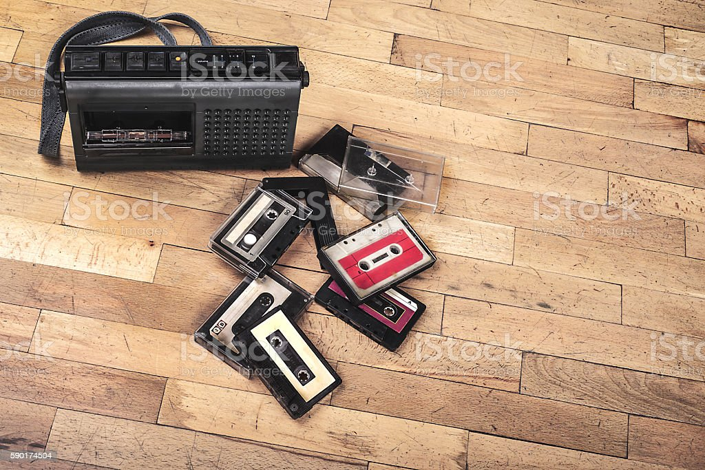 Vintage Cassette Player and Recorder... stock photo
