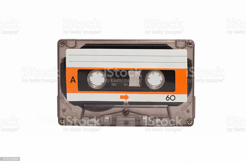 vintage cassette tape stock photo