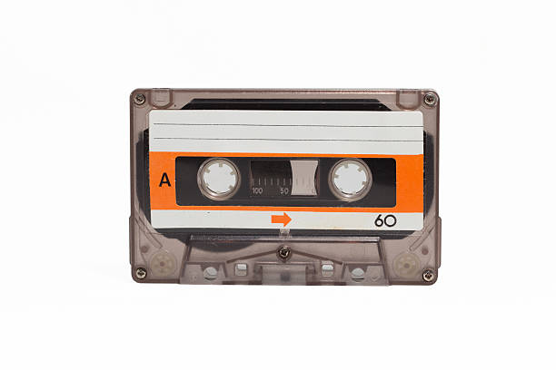 vintage cassette tape vintage cassette tape old technology isolated white background tape stock pictures, royalty-free photos & images