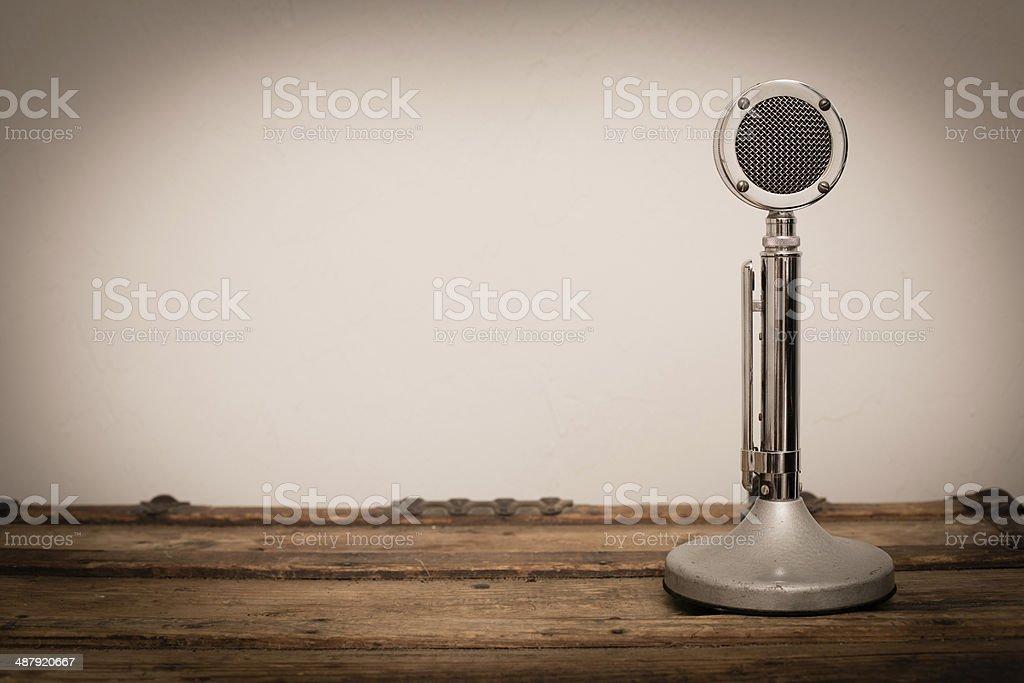 Vintage CB/Ham Radio Microphone, With Copy Space stock photo