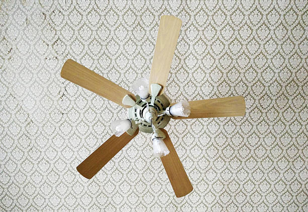 Vintage ceiling fan A vintage ceiling fan has beauty. ceiling fan stock pictures, royalty-free photos & images