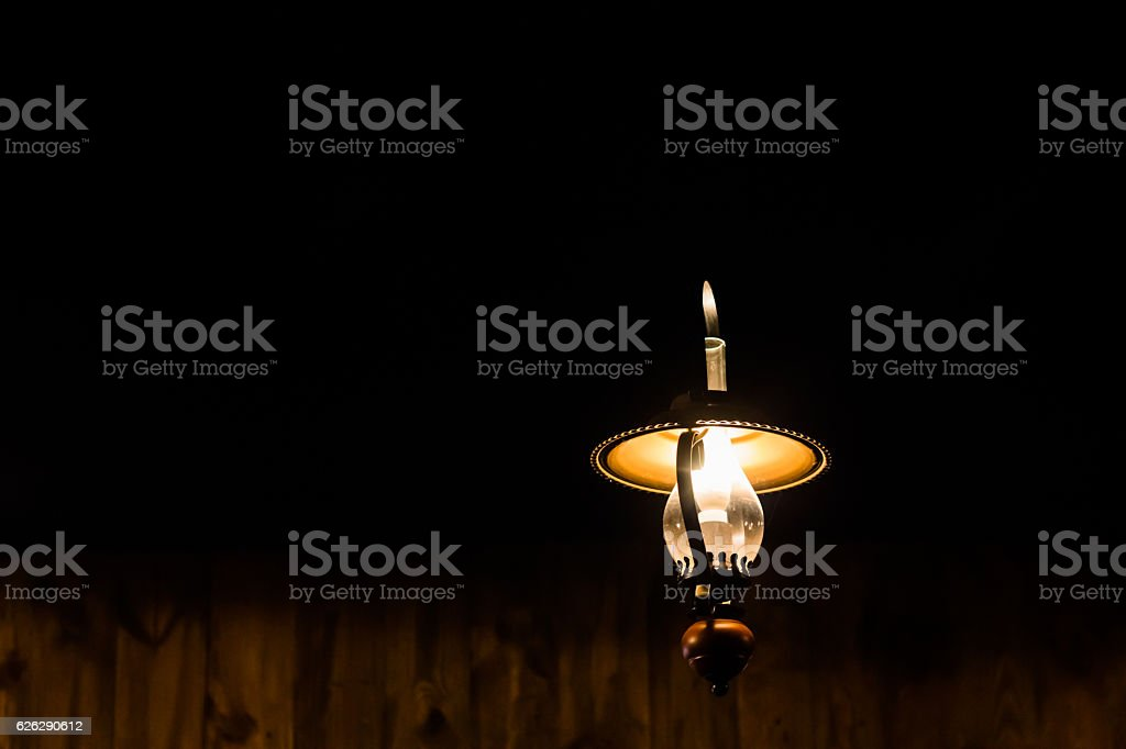 Vintage ceiling lamp stock photo