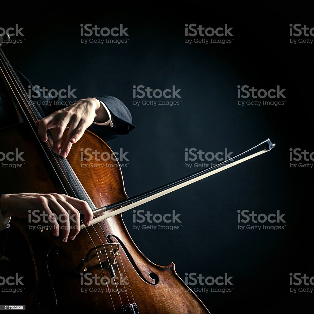 Vintage cello stock photo