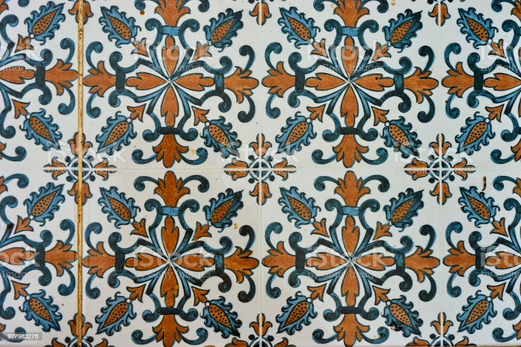 Vintage Ceramic Tiles Wall Decoration Vintage Floor Tiles Stock Photo Download Image Now Istock