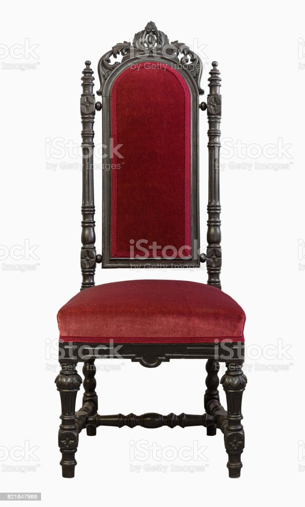 Vintage Chair isolated on white background stock photo