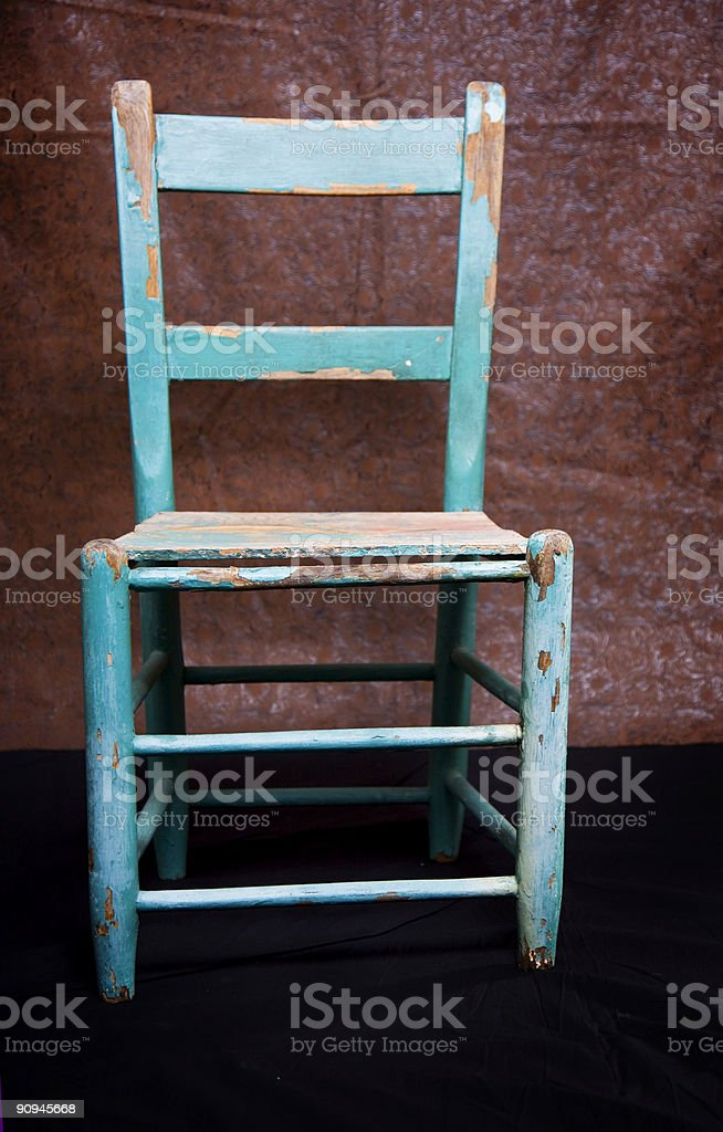 vintage chair scene royalty-free stock photo