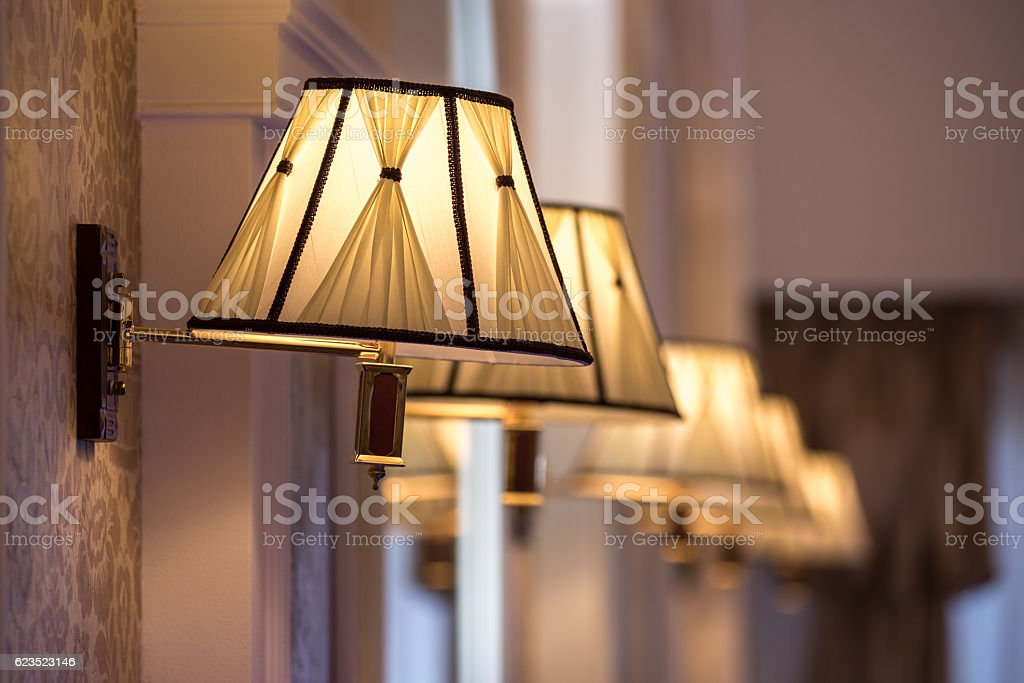 vintage chandelier in retro restorant stock photo