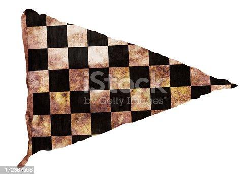 istock Vintage Checkered Pennant (XXL) 172367558