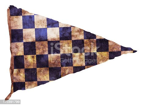 istock Vintage Checkered Pennant 172391799