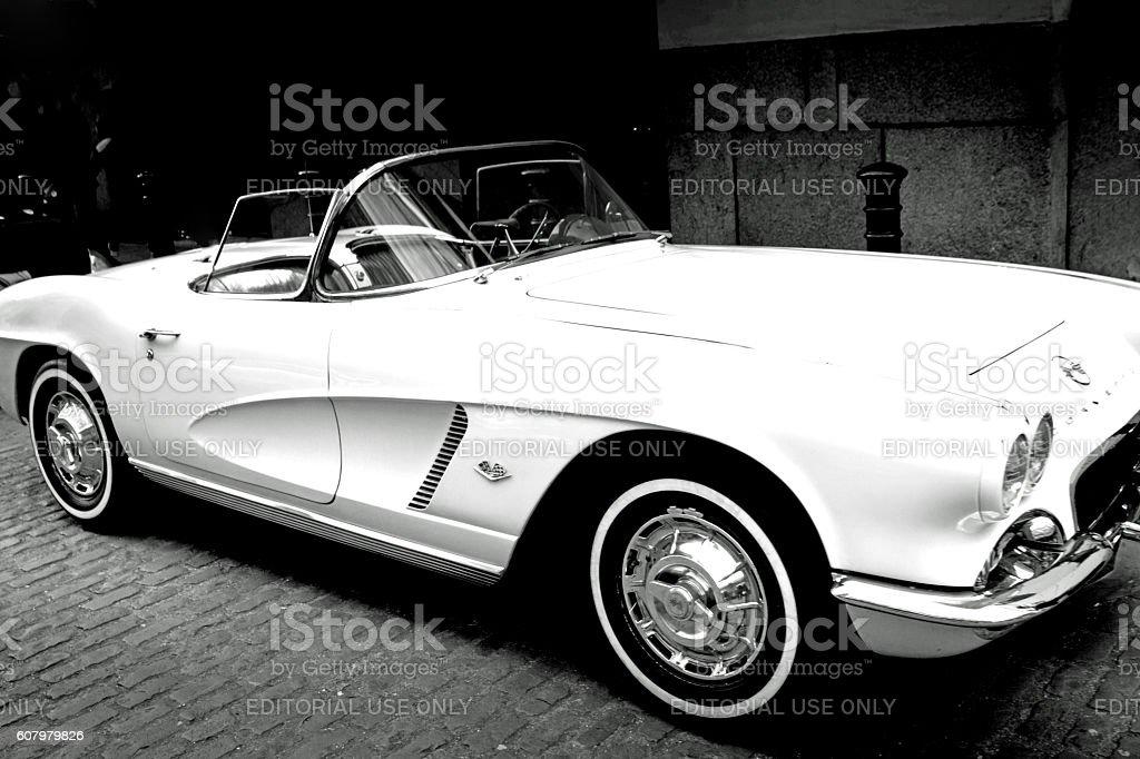 Vintage Chevrolet Corvette stock photo