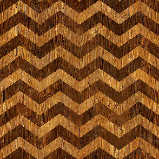 vintage chevron pattern - seamless background - wooden texture - chevron stock photos and pictures