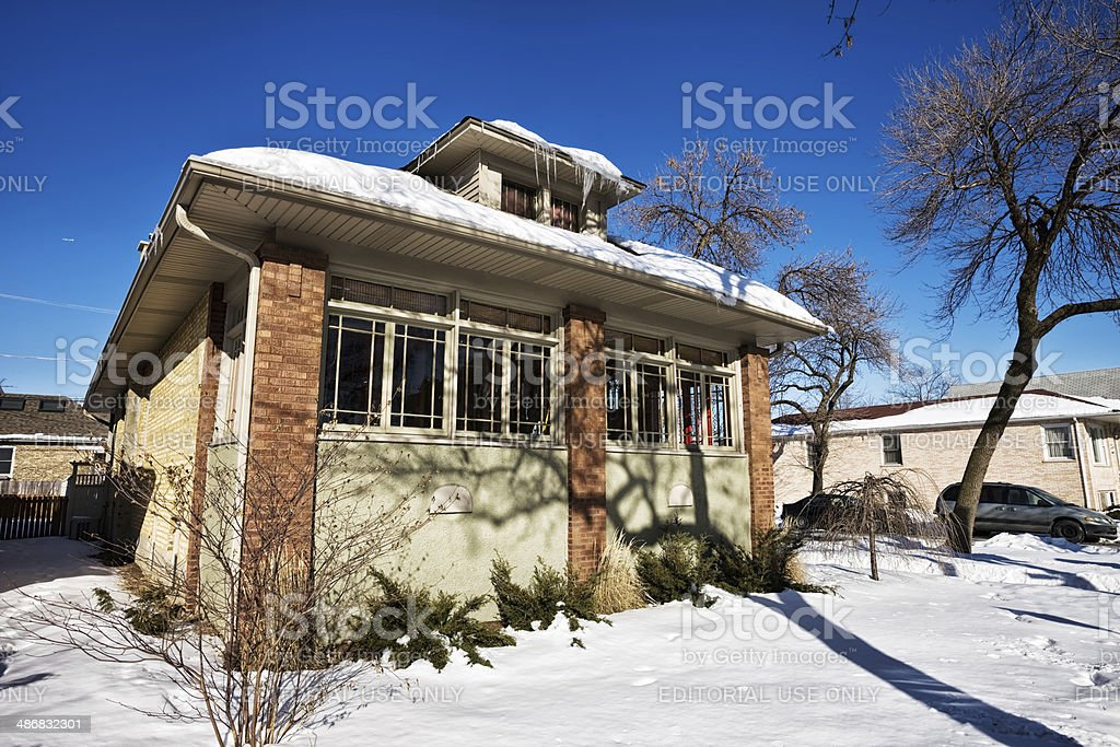Vintage Chicago Bungalow royalty-free stock photo