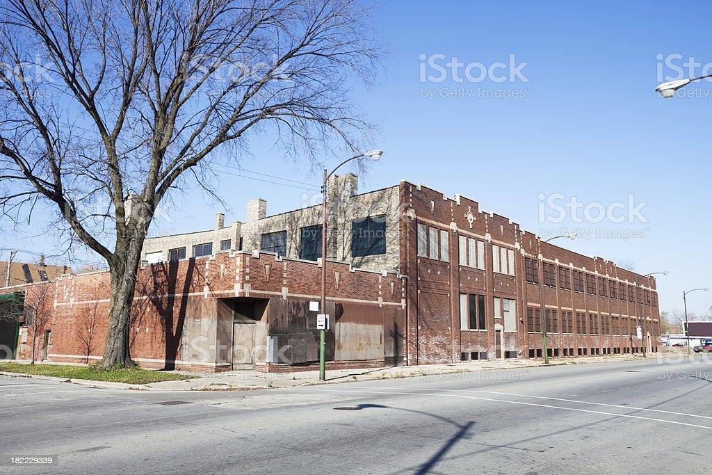 Vintage Chicago Factory in Southwest Neighborhood stock photo