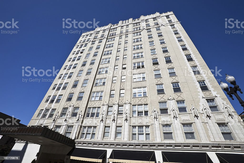Vintage Chicago North Side Apartment Building royalty-free stock photo