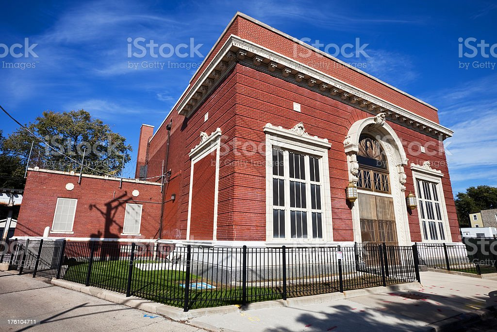 Vintage Chicago Pumping Station royalty-free stock photo