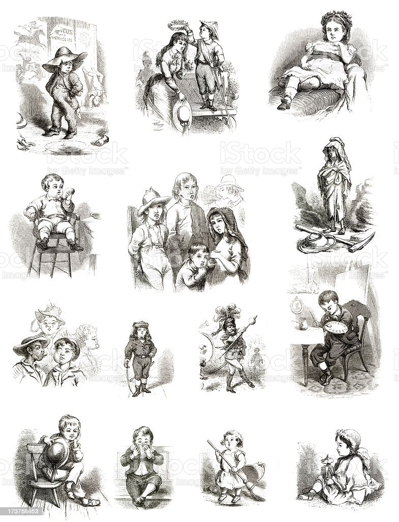 Vintage Childrens Collection stock photo