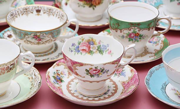 vintage china - porcelana - fotografias e filmes do acervo
