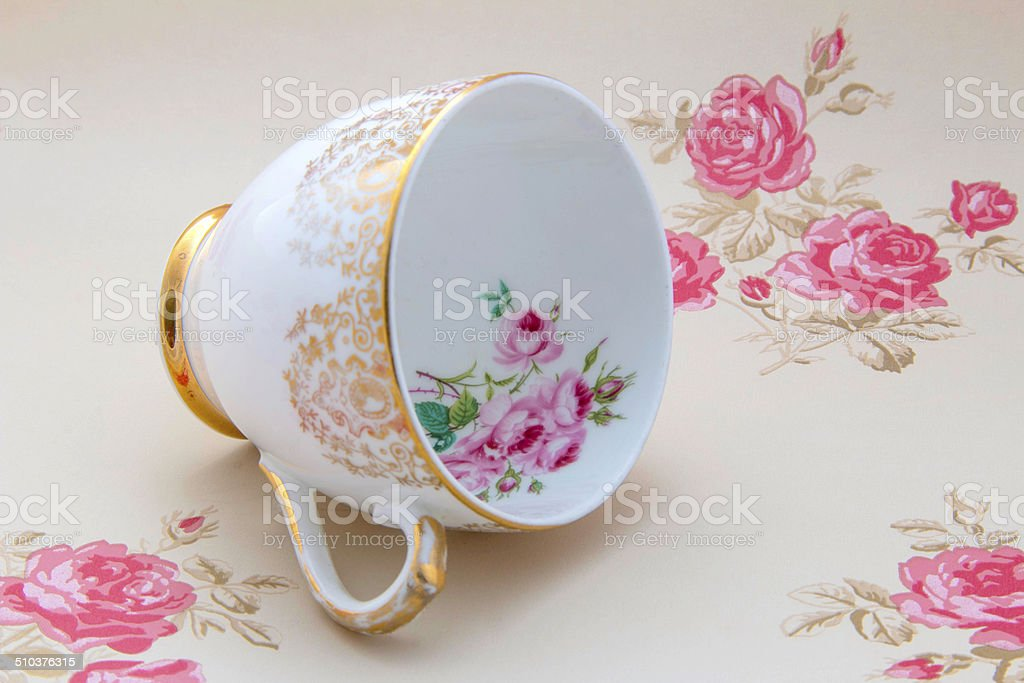 Vintage China Teacup stock photo