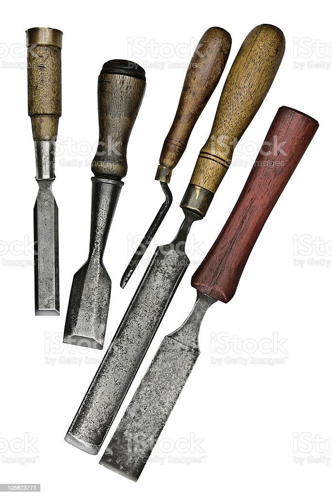 vintage chisels royalty-free stock photo