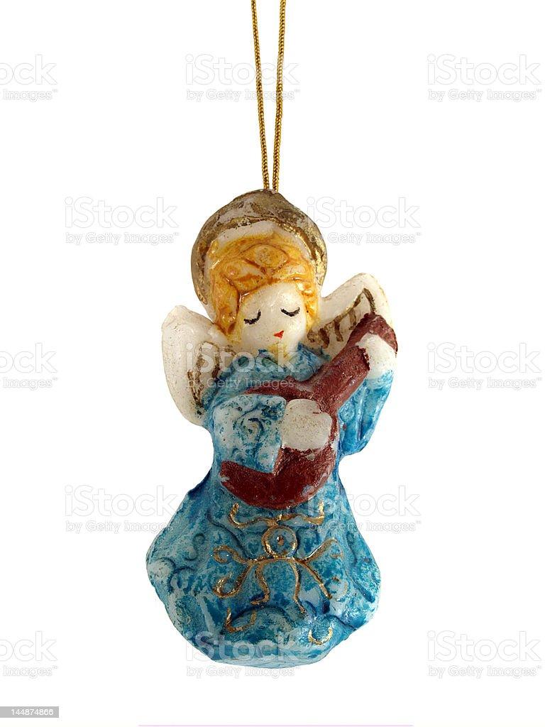 vintage christmas angel royalty-free stock photo