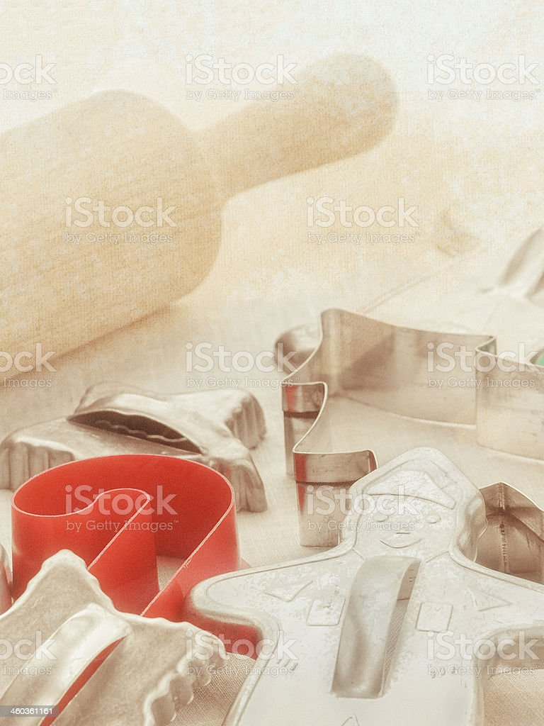 Vintage Christmas Cookie Cutters Stock Photo Download Image Now