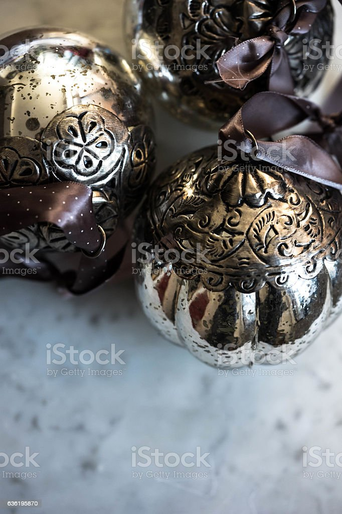 Vintage Christmas decoration for a tree stock photo