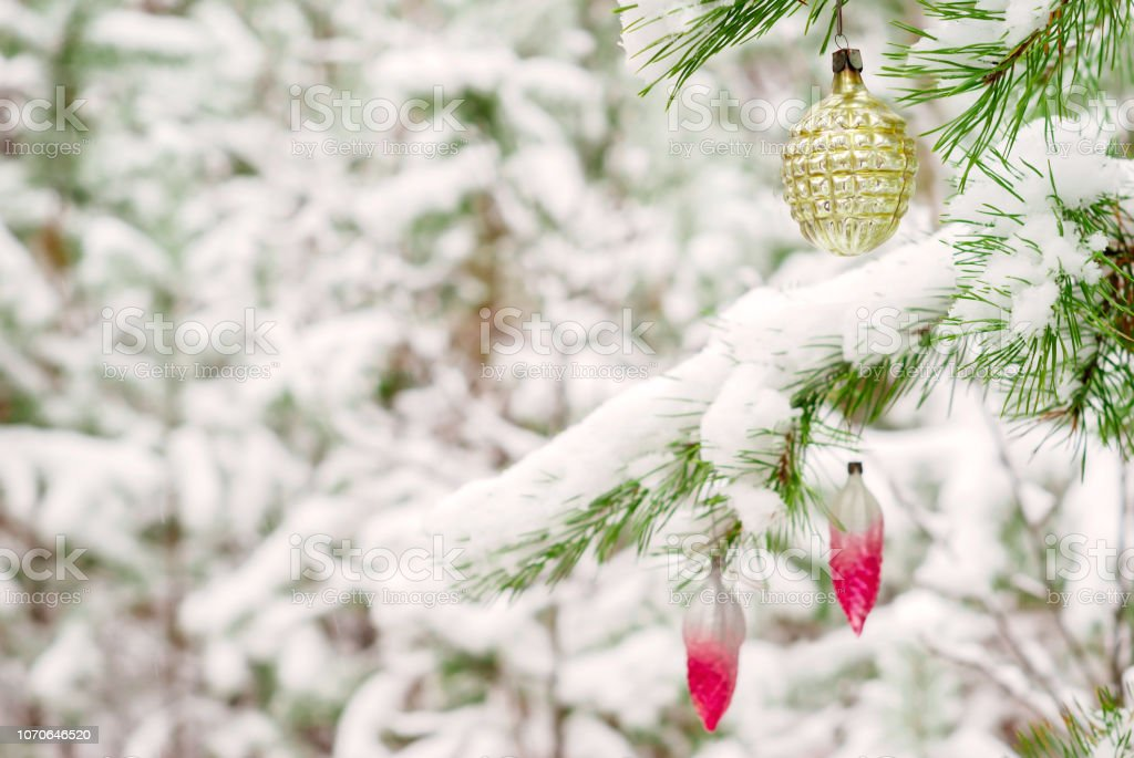 Vintage Christmas Decorations Outdoor Stock Photo Download Image Now Istock