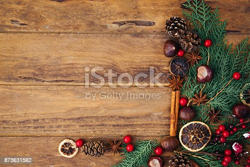 istock Vintage Christmas decorations 873631562