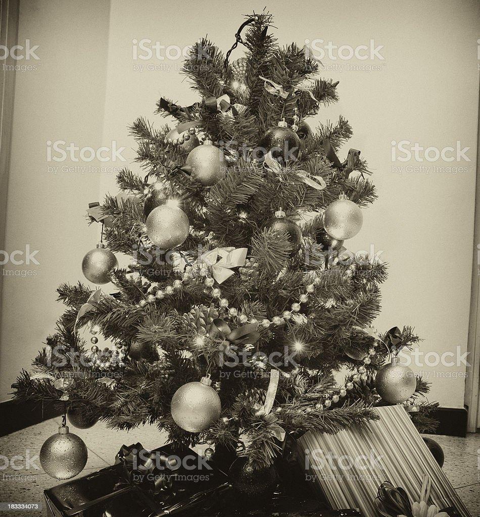 Vintage Christmas tree royalty-free stock photo