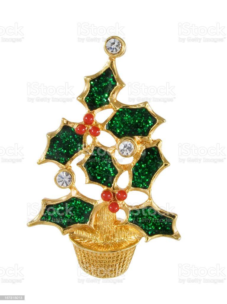Vintage Christmas Tree Pin royalty-free stock photo