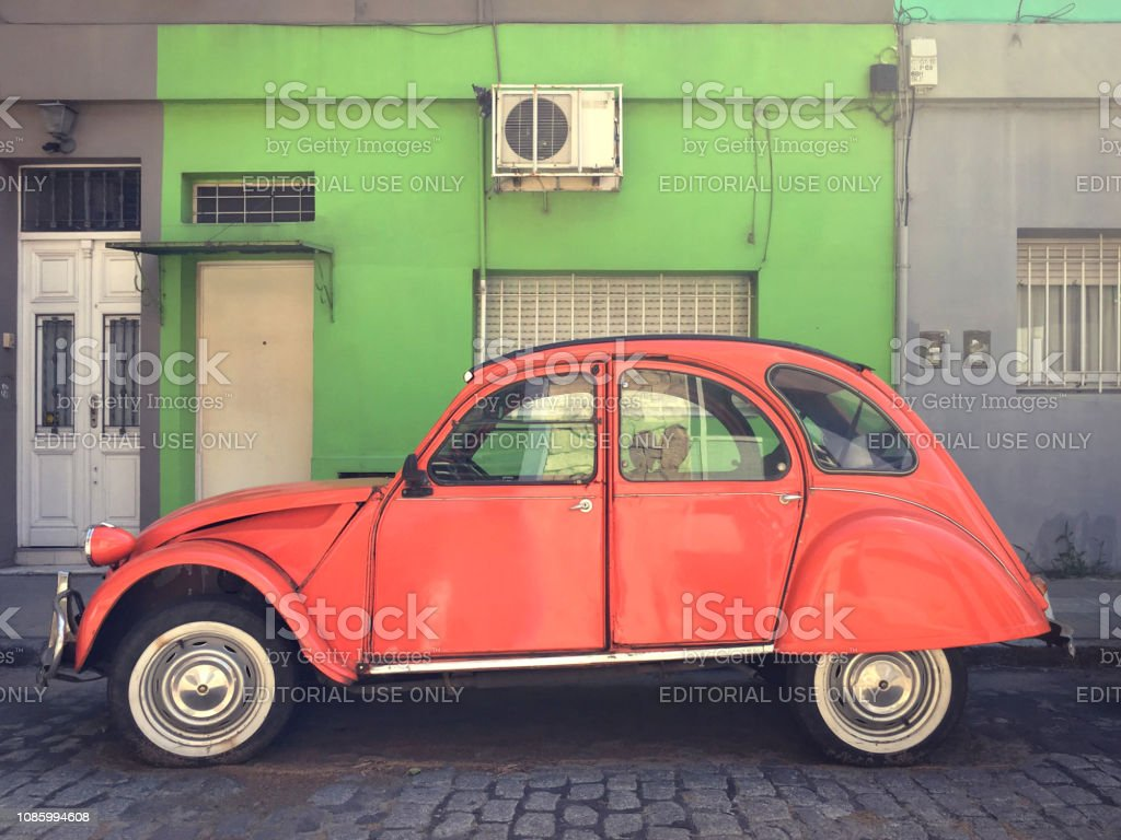 Vintage Citroen Car Parked In The Street Stock Photo - Download Image Now -  iStock