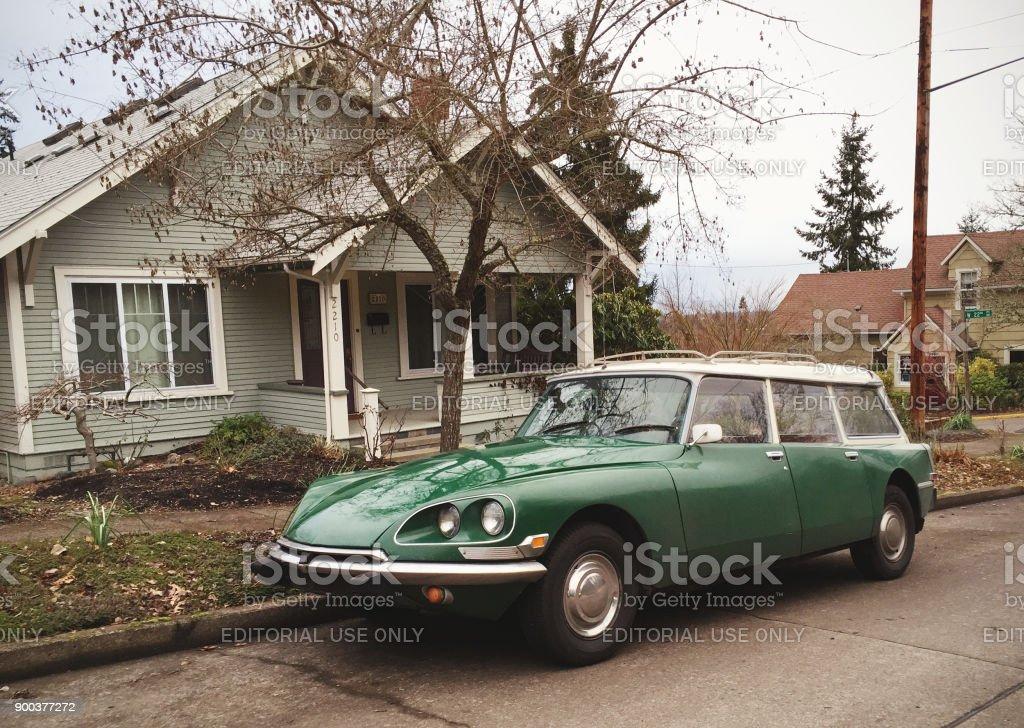 Vintage Citroën in the U.S. stock photo