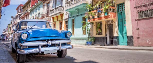 Jahrgang klassische amerikanische Auto in Havanna, Kuba – Foto