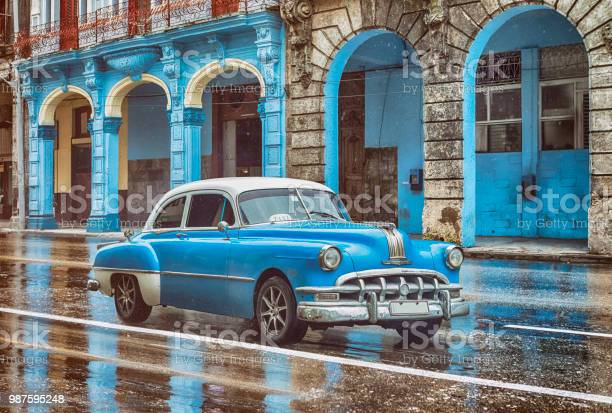 Vintage classic blue american oldtimer car in old town of havana cuba picture id987595248?b=1&k=6&m=987595248&s=612x612&h=gairbaejejsgjuv8iiovb6hfixheu8j0typn09qf77e=