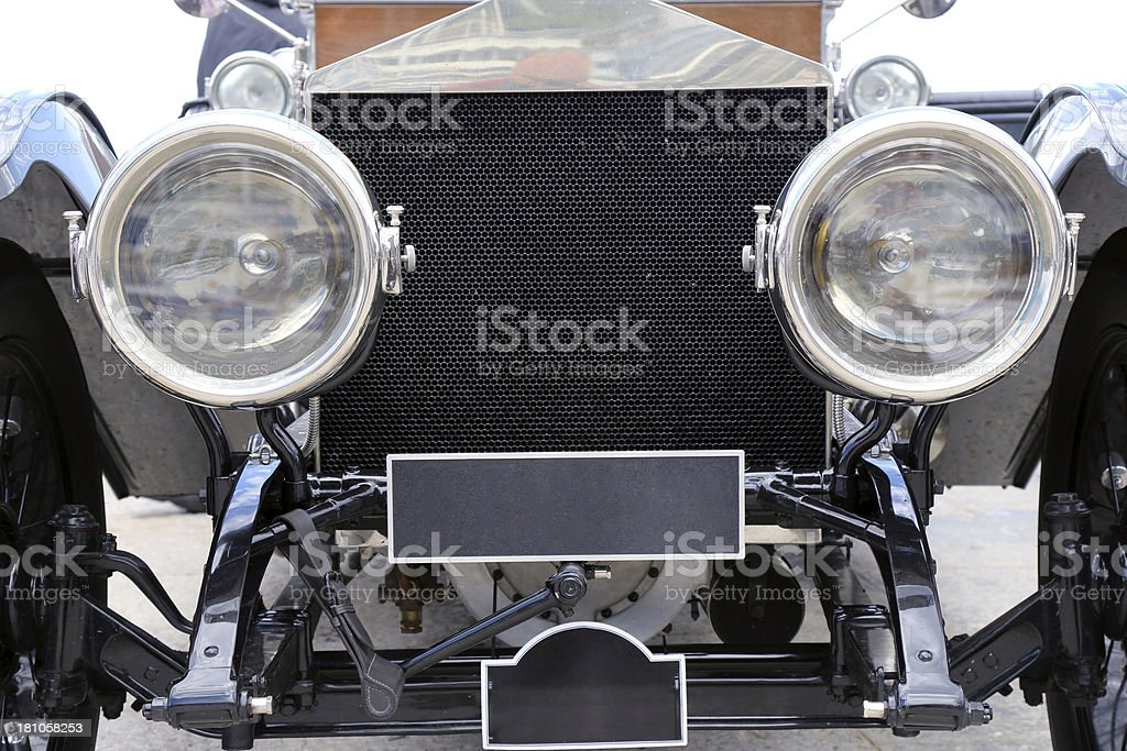 Vintage classic car details royalty-free stock photo