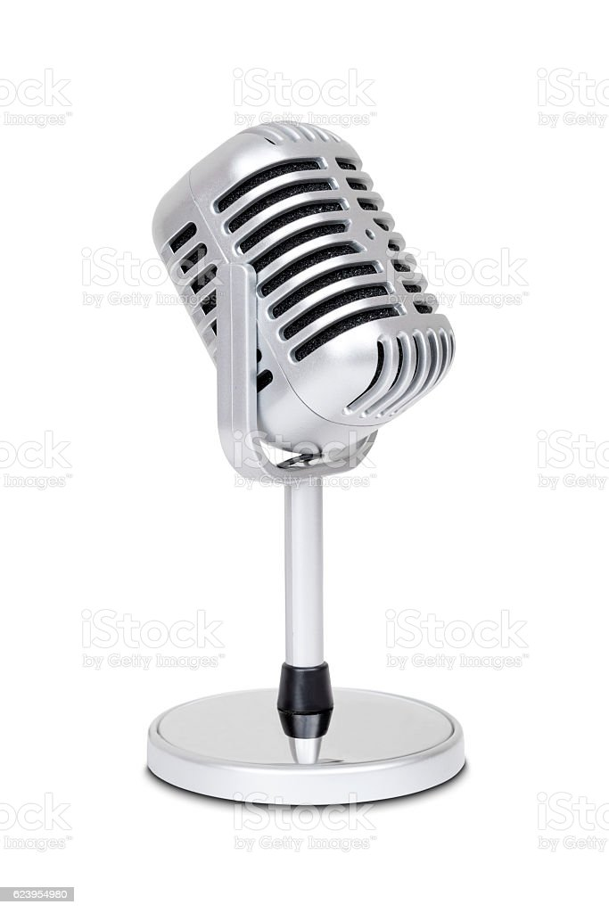 Vintage classic microphone stock photo