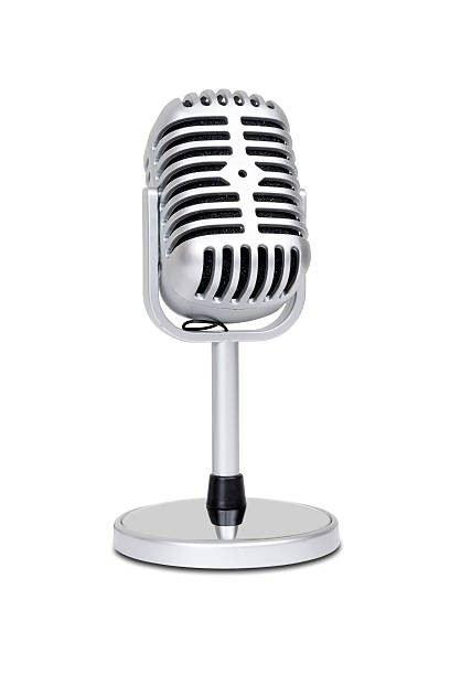 Vintage classic microphone stock photo