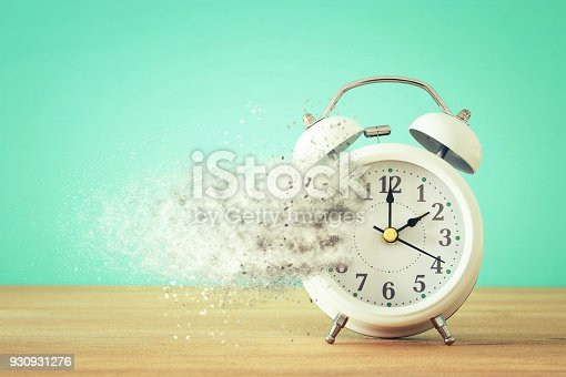 istock Vintage clock as time passing and pass away concept. 930931276