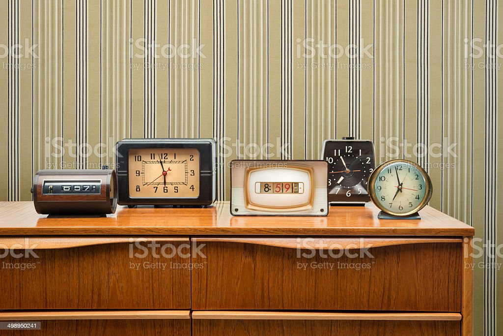 Vintage Clock Collection stock photo