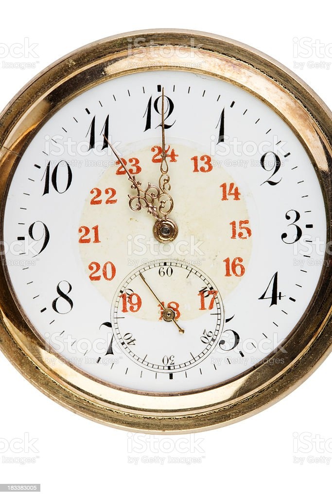 vintage clock face stock photo