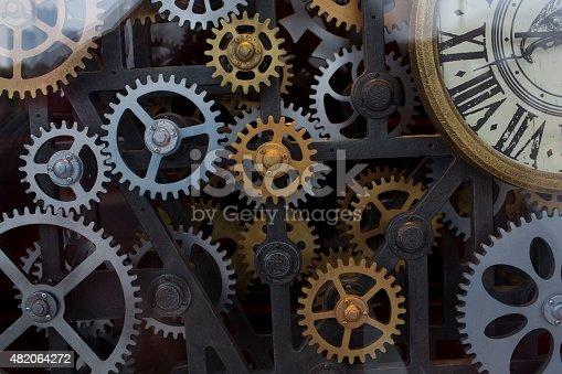 istock Vintage clock mechanism 482064272