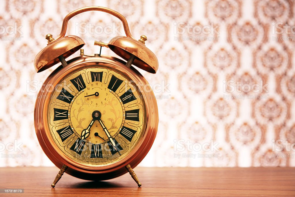 Vintage clock royalty-free stock photo